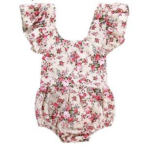 Baby Girls Floral Print Ruffle /Romper Infant
